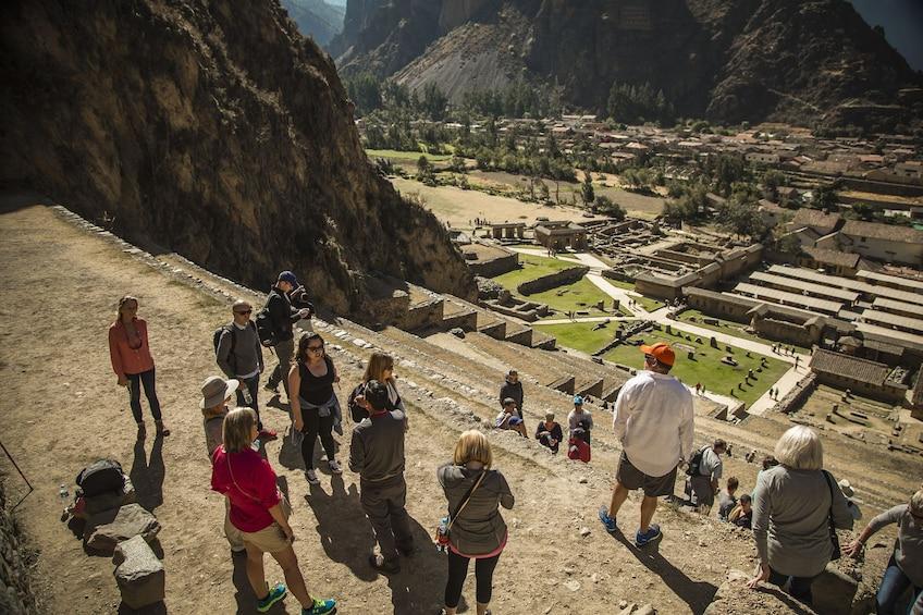 Show item 3 of 9. Full-Day Sacred Valley Tour to Awana Kancha, Pisac & Ollantaytambo