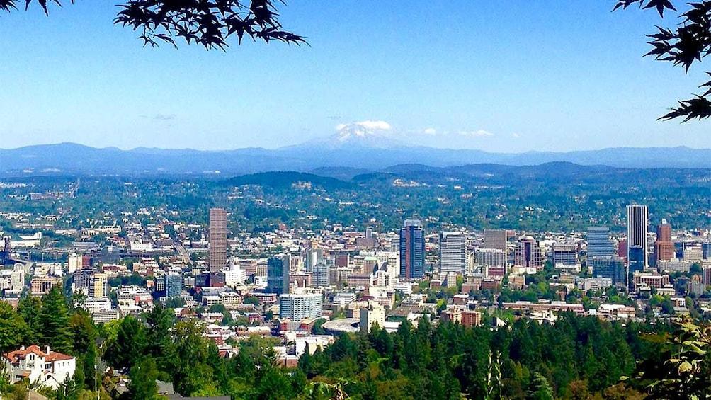 Panoramic aerial view of Portland