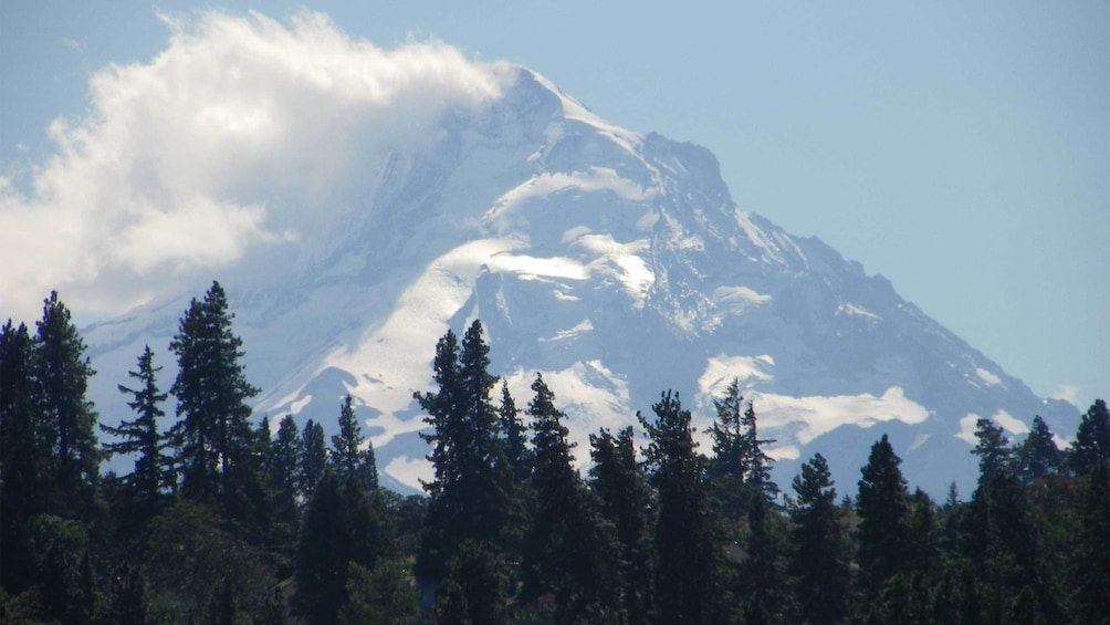 Close up view of Mt. Hood in Oregon