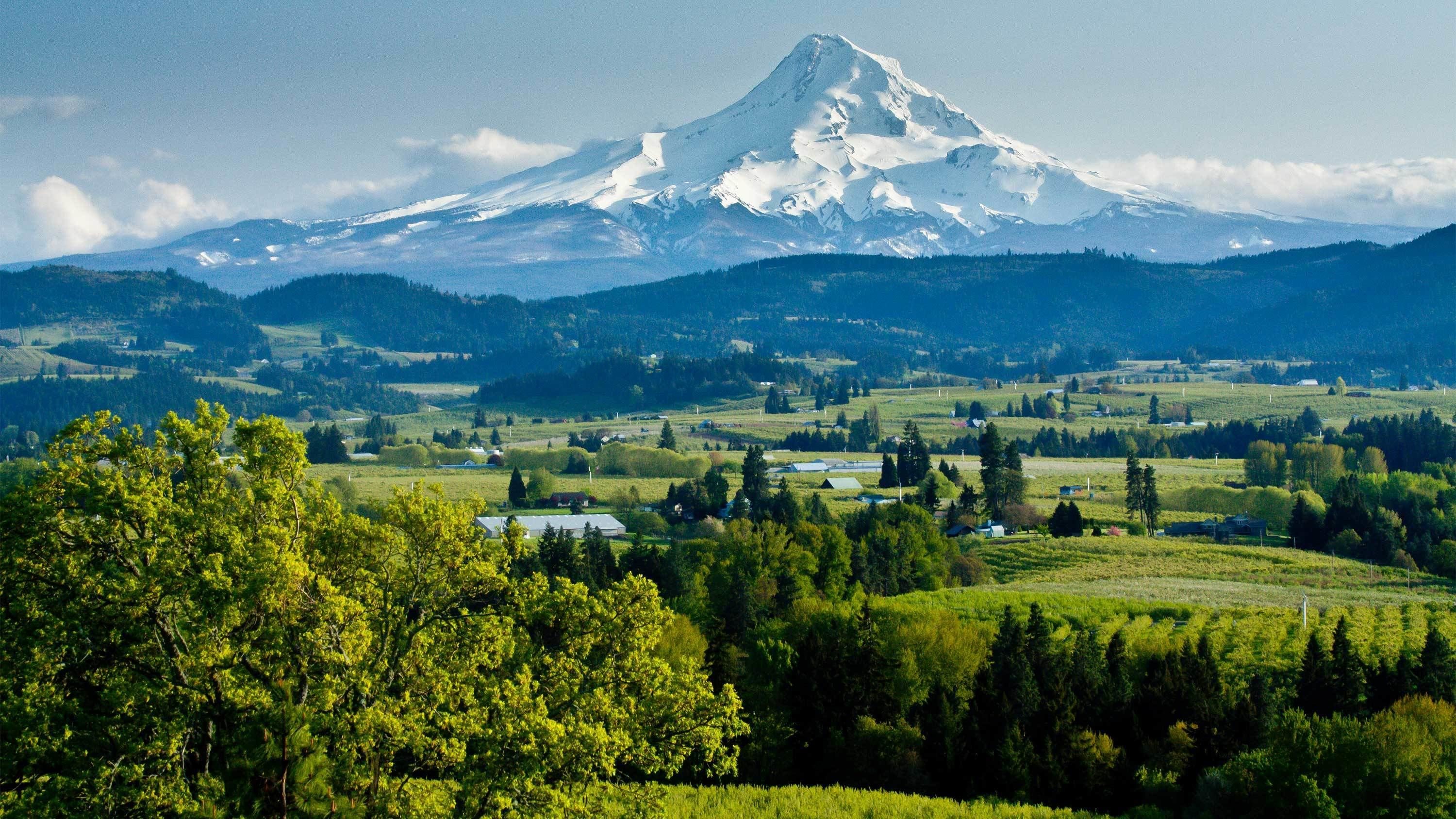 Panoramic view of Mt. Hood