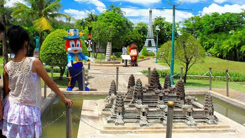 Panoramic view inside the park at Dream World in Bangkok