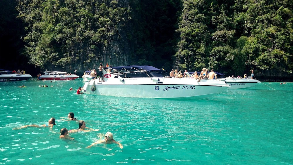 Show item 8 of 8. Group on the tour of Phi Phi Island in Phuket, Thailand