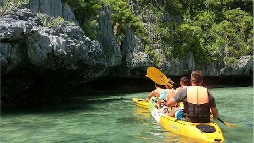 Kayakers on the coast of Thailand