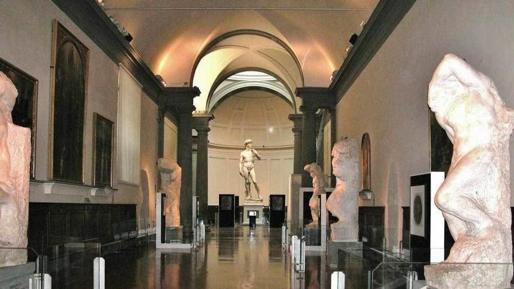 walking through the museum hallways in Florence