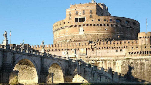 Stunning view of the Castel Sant'Angelo in Rome