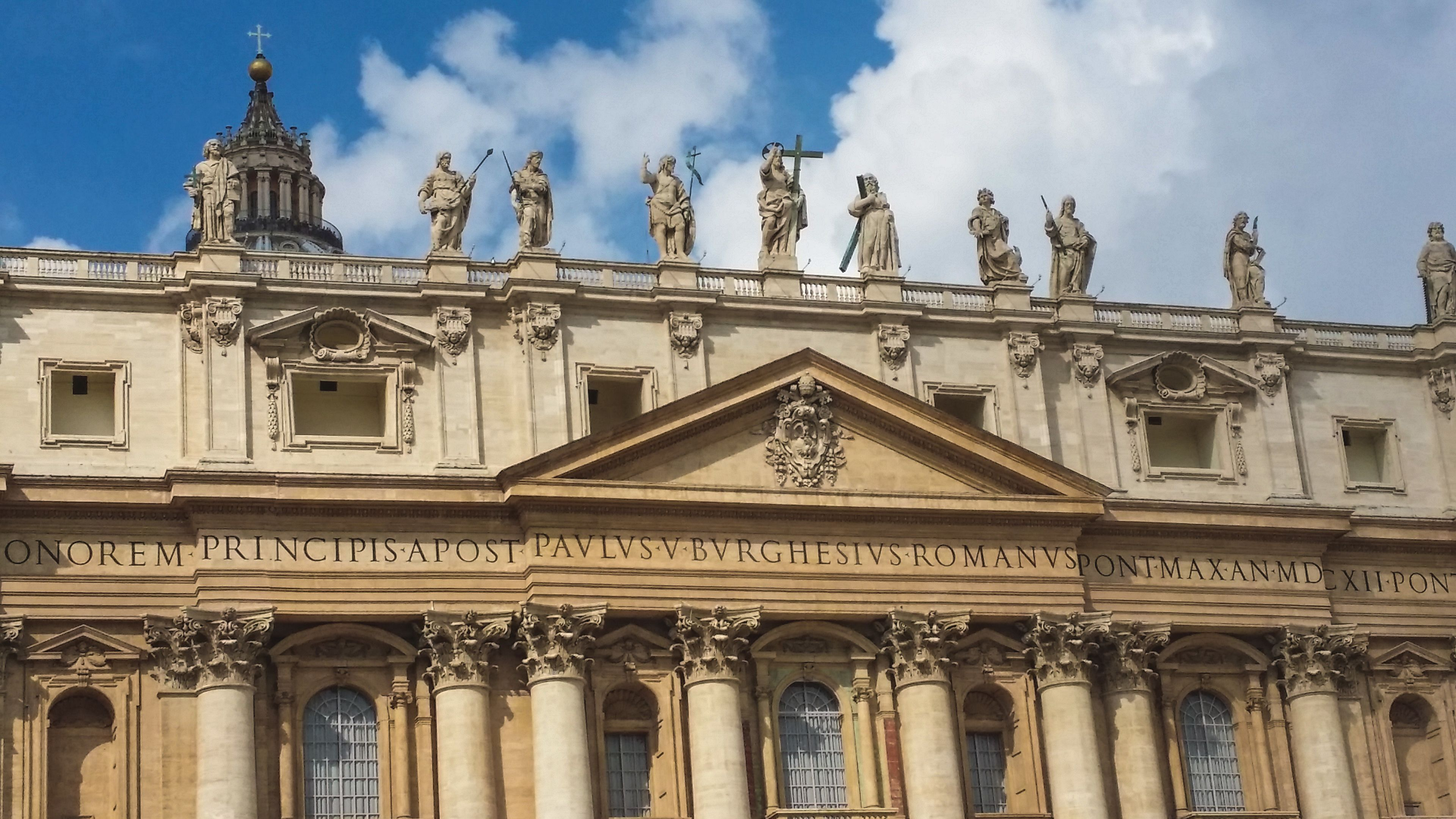 Exterior view of St. Peter's Basilica.