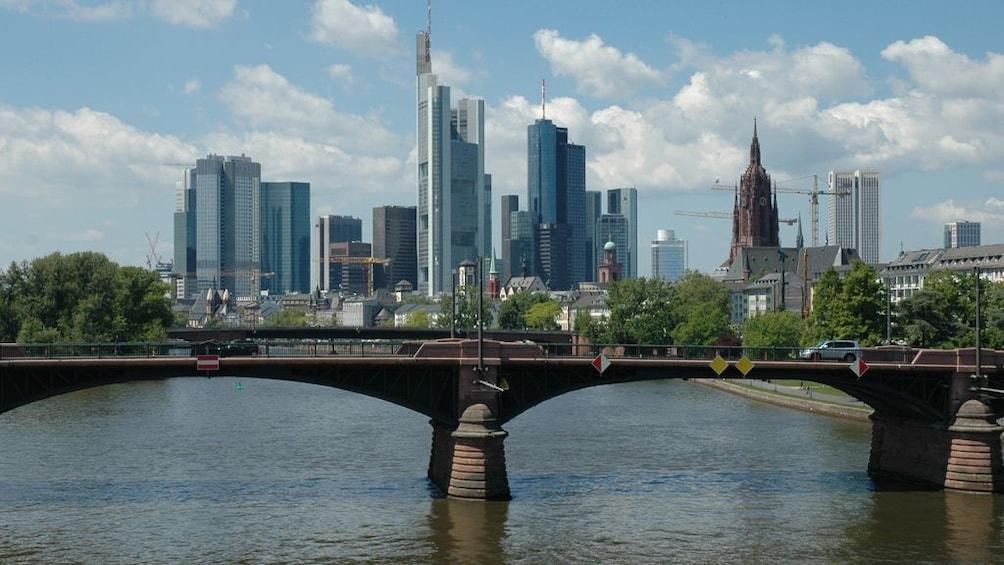 Skyline of Frankfurt as seen from the Rhine