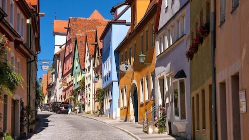 colorful buildings along the street in Germany