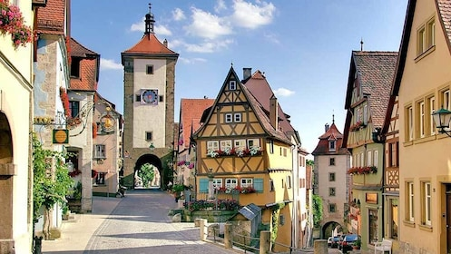 an old town clock tower in Germany