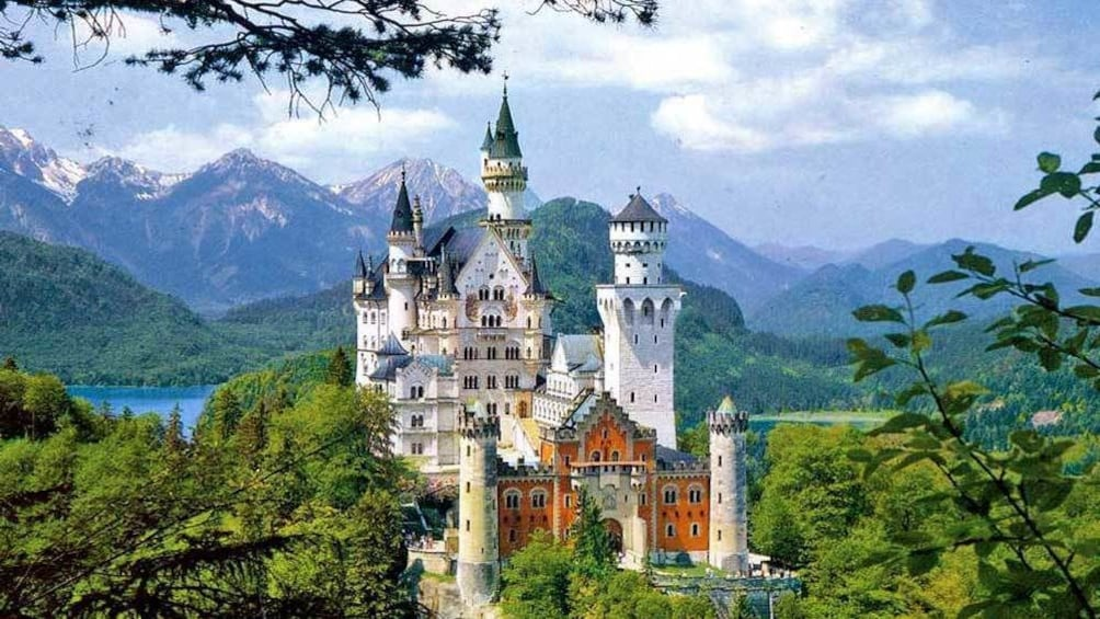 Show item 1 of 5. view of the lakeside castle in Germany