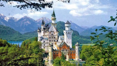 view of the lakeside castle in Germany