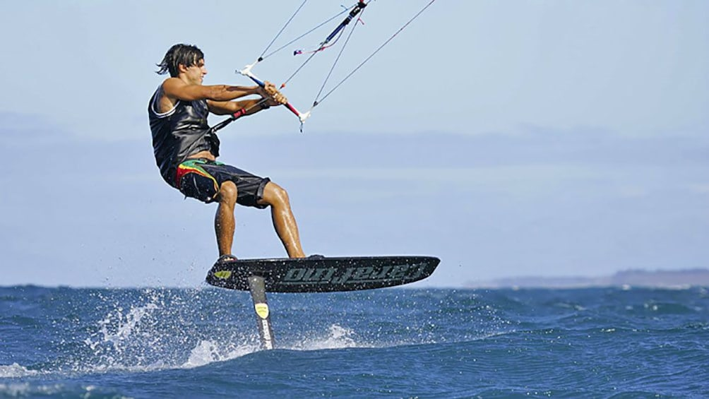 Show item 2 of 8. Kiteboarder in Maui