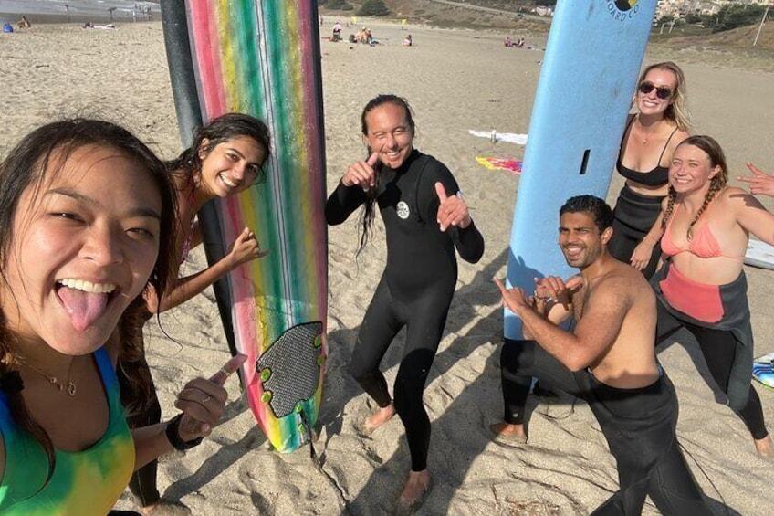 Surfcamp 5 Surfers x 1 Coach