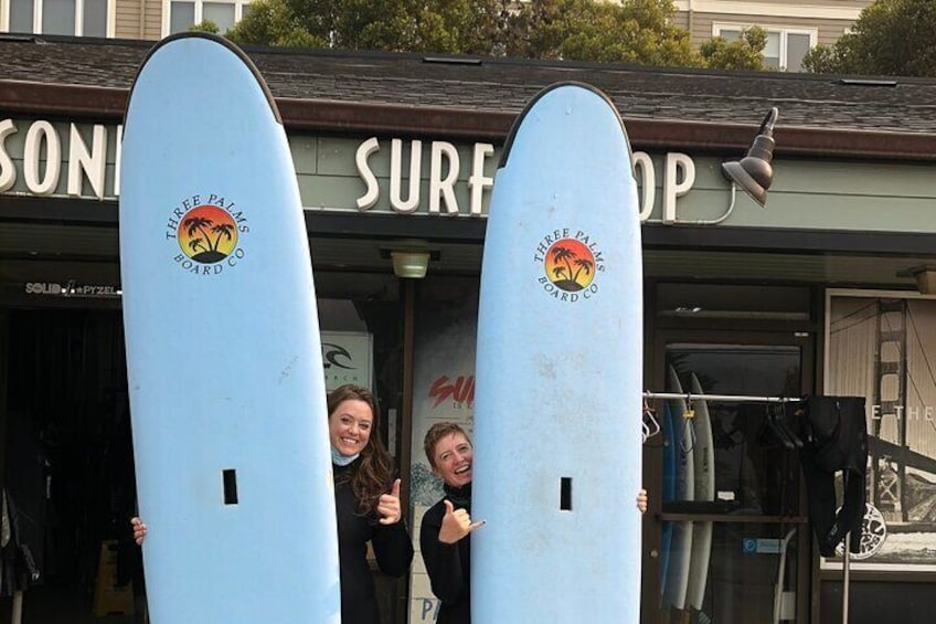 Group Lesson of 2 surfers x 1 Coach