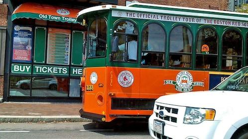 taking the trolley in Boston