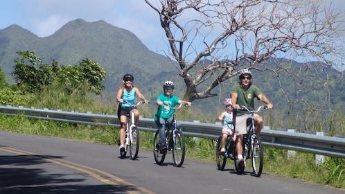 Enjoy a scenic bike ride down the mountain ranges of Oahu