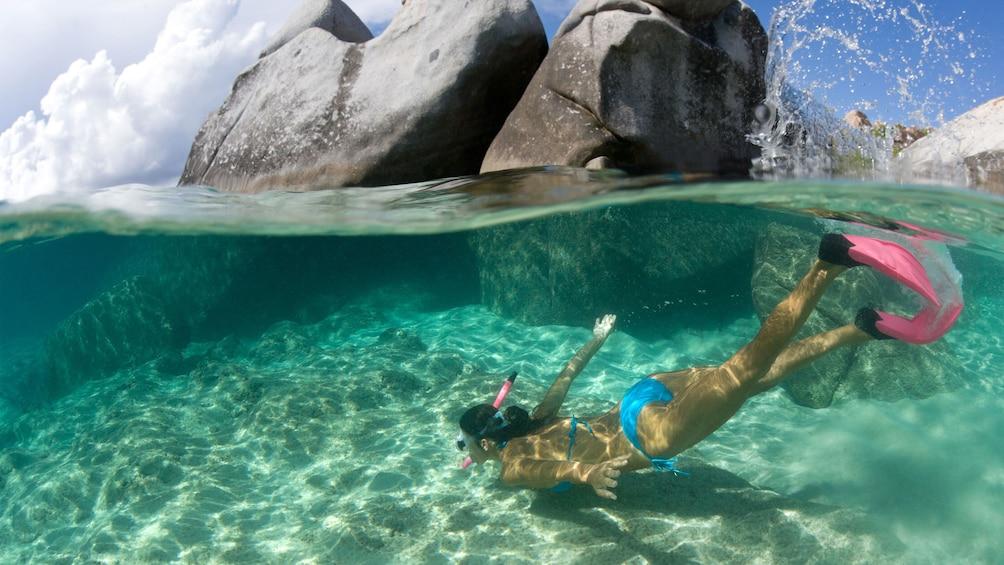 Show item 10 of 10. Snorkel off the Waikiki coast in Oahu