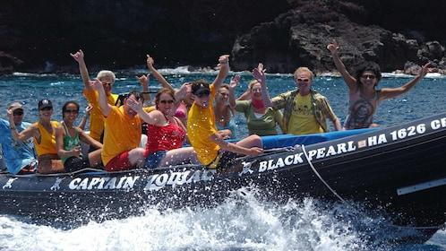 People on raft in Hawaii