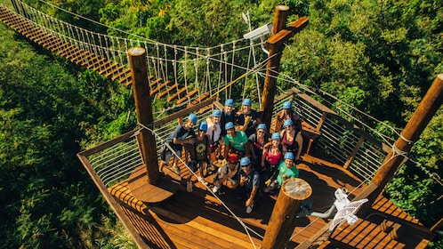 Traverse rope bridges to your next Zipline course at Keana Farms