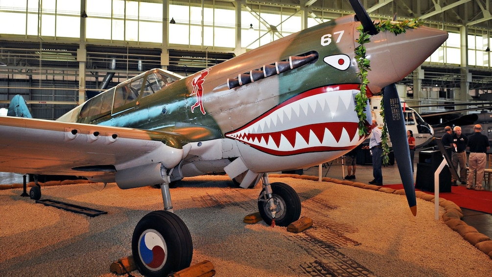 World War 2 P52 Mustang on display at the Pacific Aviation Museum