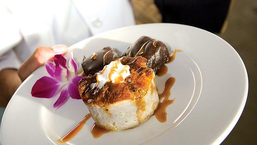 Dessert served on the Sunset Dinner Cruise in Maui