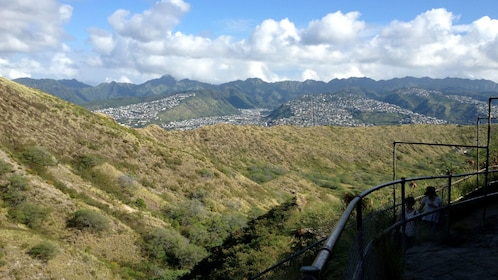 View out over hillsides in Oahu