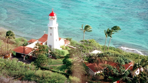 Lighthouse on the coast of Waikiki