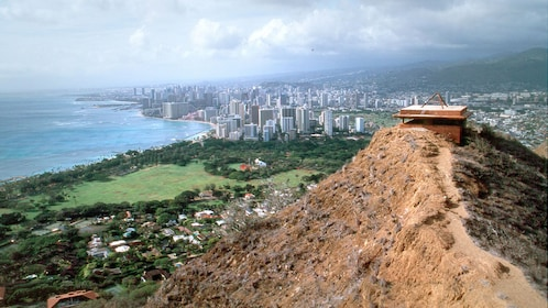 Summit of Diamond Head Crater overlooking Honolulu, Oahu
