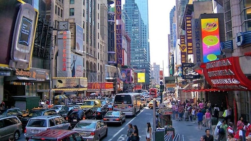 busy streets in New York