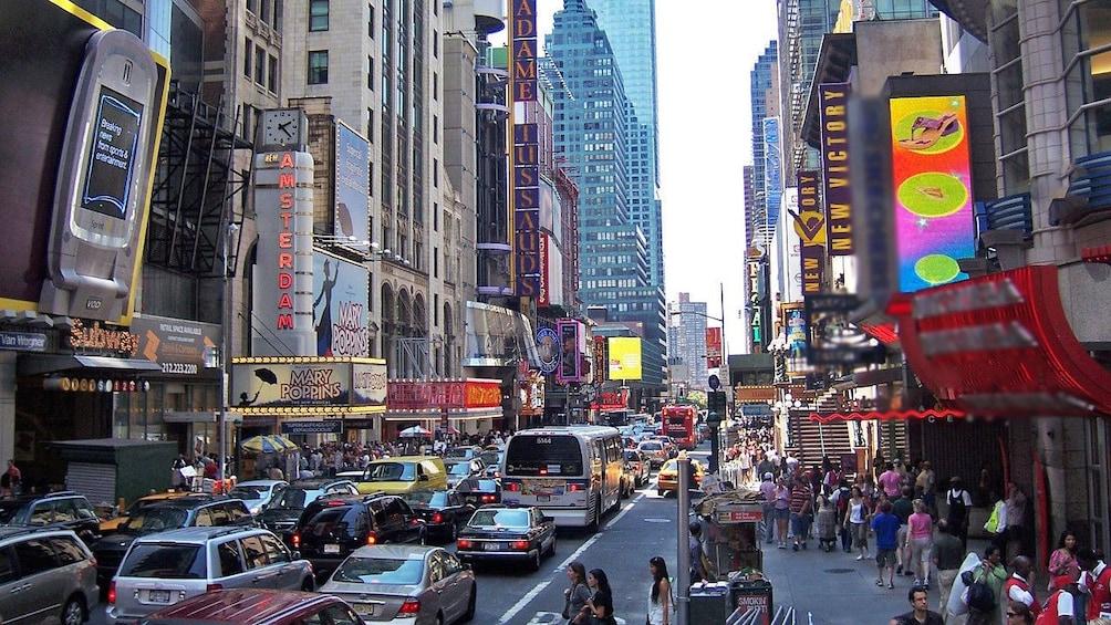 busy city street in new york