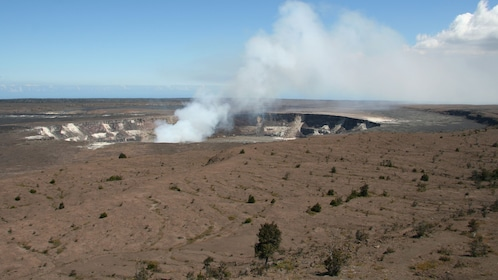 View of steam vents in Hawai'i Volcanoes National Park on the Big Island
