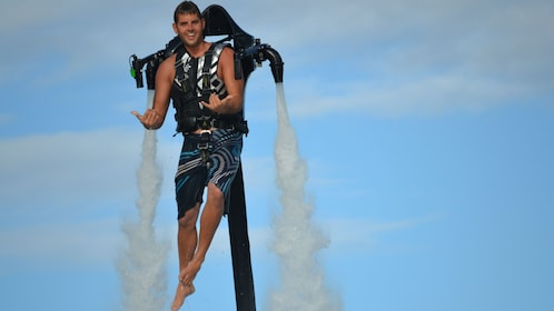 Soar up to 30 feet above the water in the H2O Jet Pack in Oahu