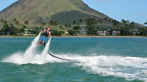 Hover above Maunalua Bay on an H2O Jet Pack in Oahu