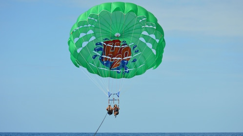 H2O Parasailing in Maunalua Bay is fun and safe as the waters are calm and the staff are experts