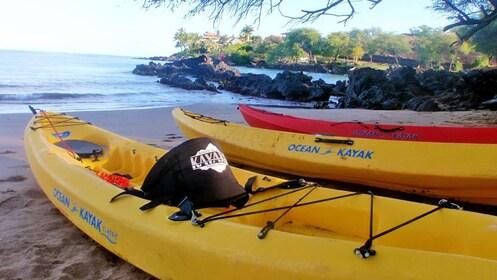 Kayaks on beach in Maui