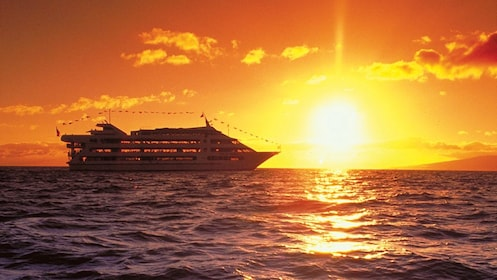 Bask in the sunset off the coast of Oahu onboard the Star of Honolulu