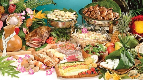 Food selection on cruise in Oahu