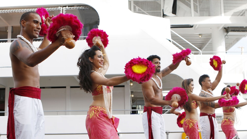 Sunset Dinner Cruise with Crab & Steak and Polynesian Show