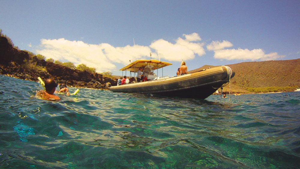 Snorkel offshore of Lanai in calm peaceful waters