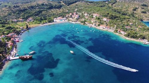 Aerial view of Elaphite Islands