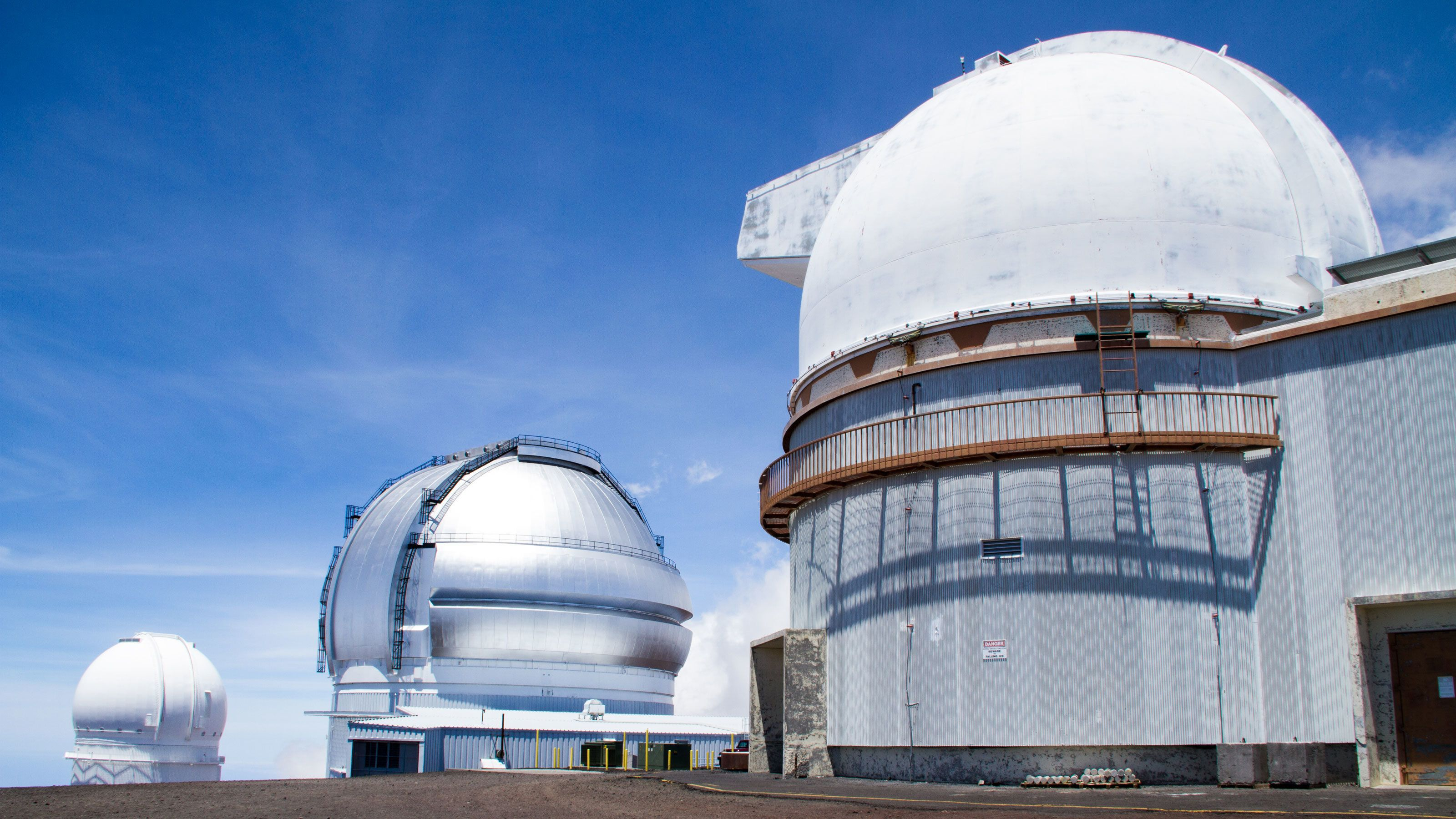 Three of the ?Mauna Kea Space Observatories in Hawaii