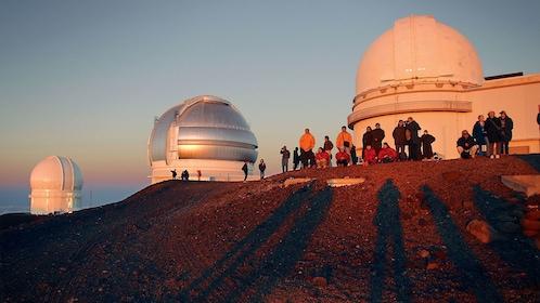 Group near the ?Mauna Kea Observatories in Hawaii