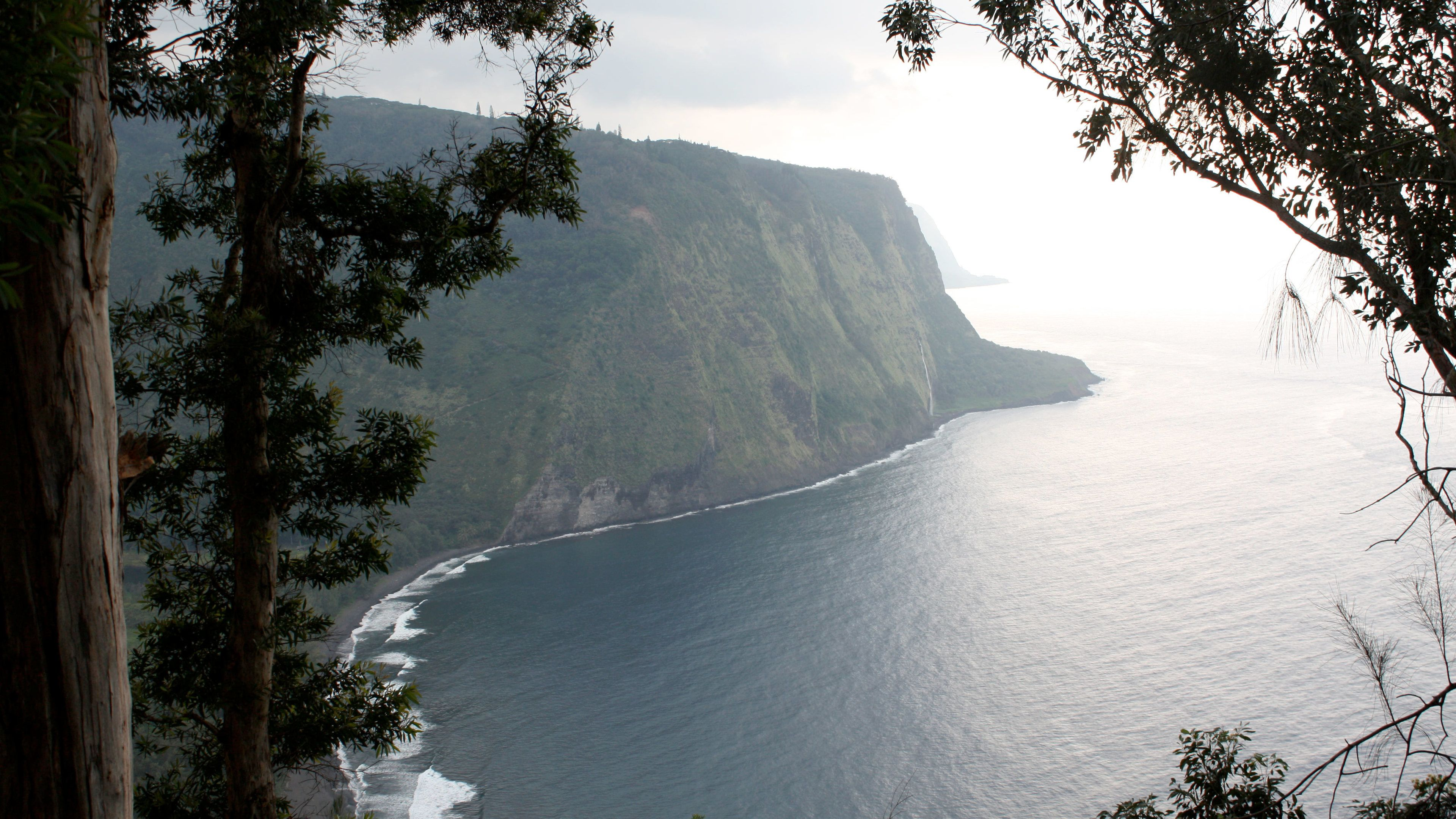 Overhead view of beautiful Big Island