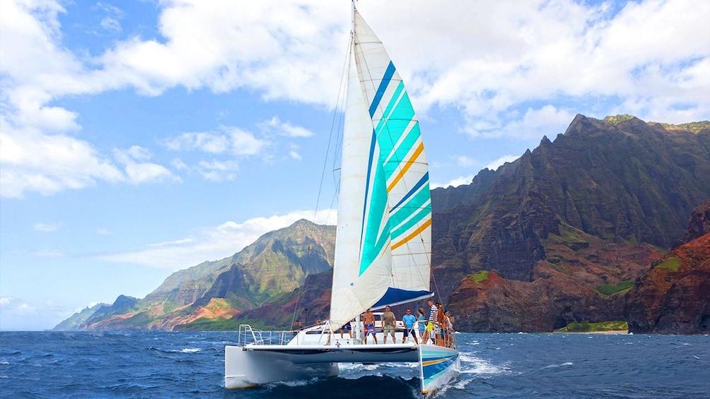 Show item 1 of 10. Catamaran in Hawaii