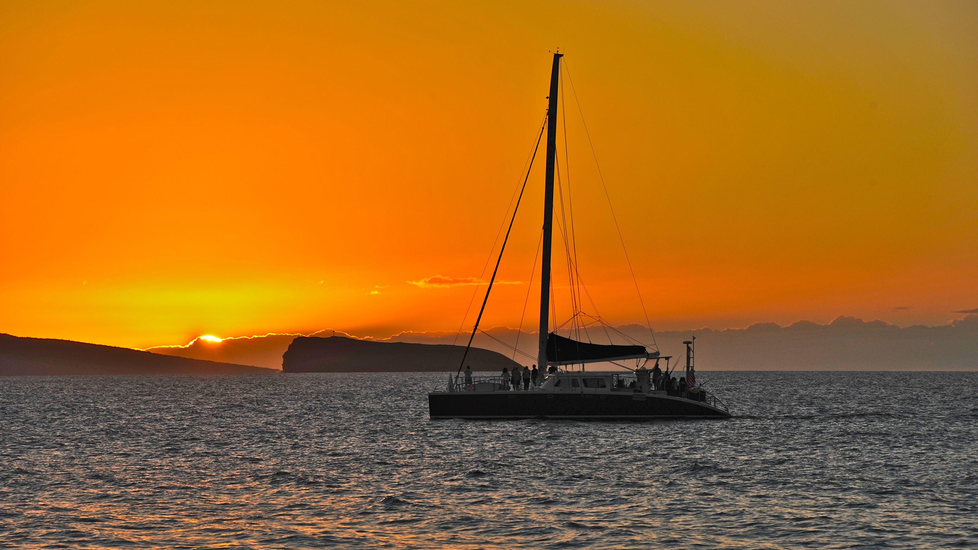 Adventure Sunset Sailing Cruise from Makena
