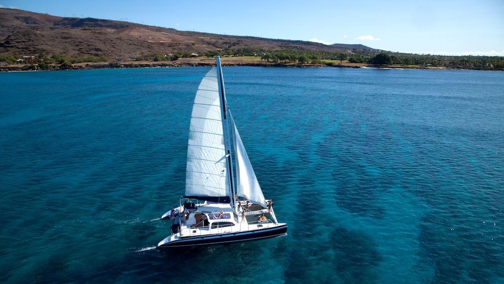 View of the Catamaran Sail & Snorkel Tour in Hawaii