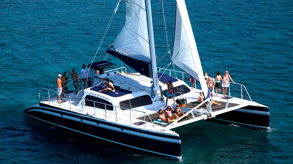 Show item 1 of 9. Group view of the Catamaran Sail & Snorkel Tour in Hawaii
