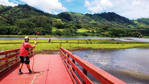 Zipline platform in Kauai