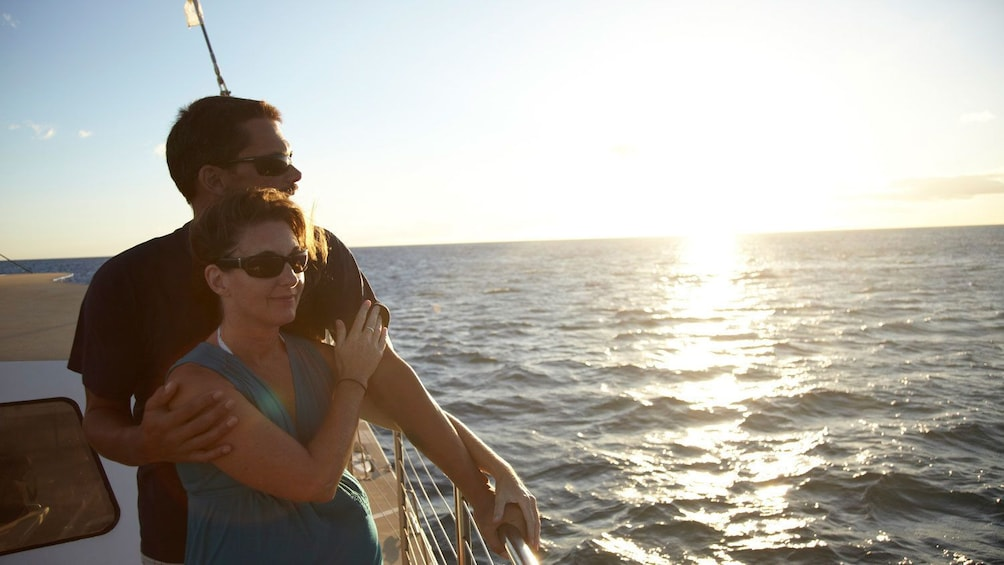 Couple enjoying ocean view