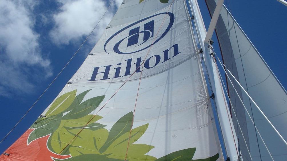 close up of boat sail